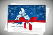 矢量圣诞节新年贺卡