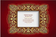 矢量古董装饰框模板
