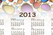 2013年日历模板矢量图素材