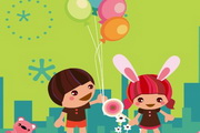 六一儿童节flash贺卡素材