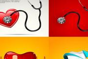 医疗创意广告海报矢量素材