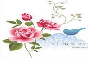 矢量花与小鸟素材