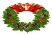 质感圣诞节花环矢量图