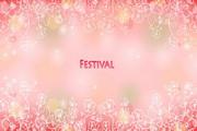 粉红花纹背景矢量图