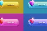 心形网页按钮UI图标素材psd