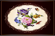 矢量精美古典花卉