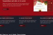 红色设计类div css网站模板模板