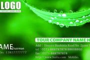 绿色清爽名片模板矢量素材