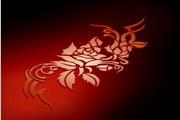 矢量红色花纹素材