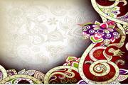 矢量印度花纹背景