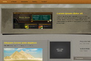 博客网页模板div+css素材