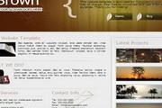 黄色商务公司div css网页模板