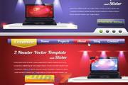 网页设计元素素材矢量图