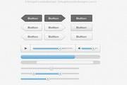 网页常用装饰控件psd图标素材