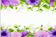 矢量 花卉旗帜边框