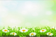矢量绿色植物花卉装饰