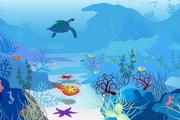 矢量蔚蓝海底世...
