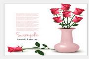 矢量粉色玫瑰
