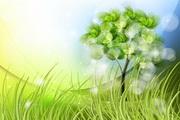 矢量绿色自然风景