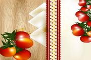 西红柿蘑菇矢量素材下载