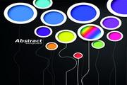 多彩创意圆形矢量设计图
