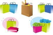 购物袋手挽袋矢量图