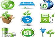 绿色环保生物图标矢量图
