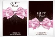 粉色礼品卡片矢量设计