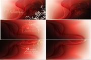 矢量梦幻红色花纹