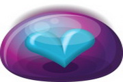 水晶心型桌面图标下载