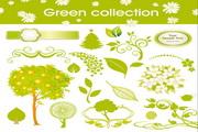 绿色植物矢量素材下载