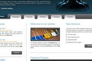新媒体公司div css网页模板