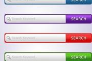 网页search搜索框设计psd按钮素材