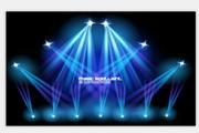 矢量蓝色舞台光效图