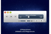 音乐播放器界面控件设计元素psd素材