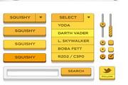web2.0网站菜单控件设计psd素材