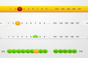 5款分页UI按钮设计素材