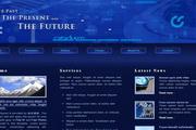 深蓝色科技类网站div css网页模板