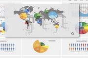 网页数据统计表设计矢量素材