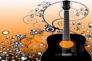 花纹吉他矢量图