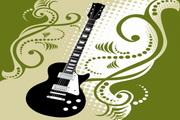 花纹吉他矢量图2