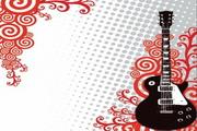 花纹吉他矢量图3