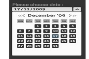 web2.0版透明flash日历动画素材