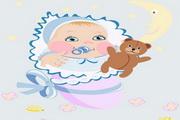 婴儿和婴儿用品矢量图