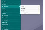 flash+xml多级扩展竖排导航菜单动画
