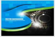 矢量齿轮科技光斑背景素材