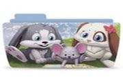 卡通兔子文件夹图标