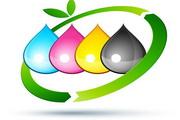 矢量彩色环保LOGO设计图