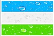 矢量水珠密布彩色背景图