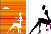 2款抽象女性矢量素材